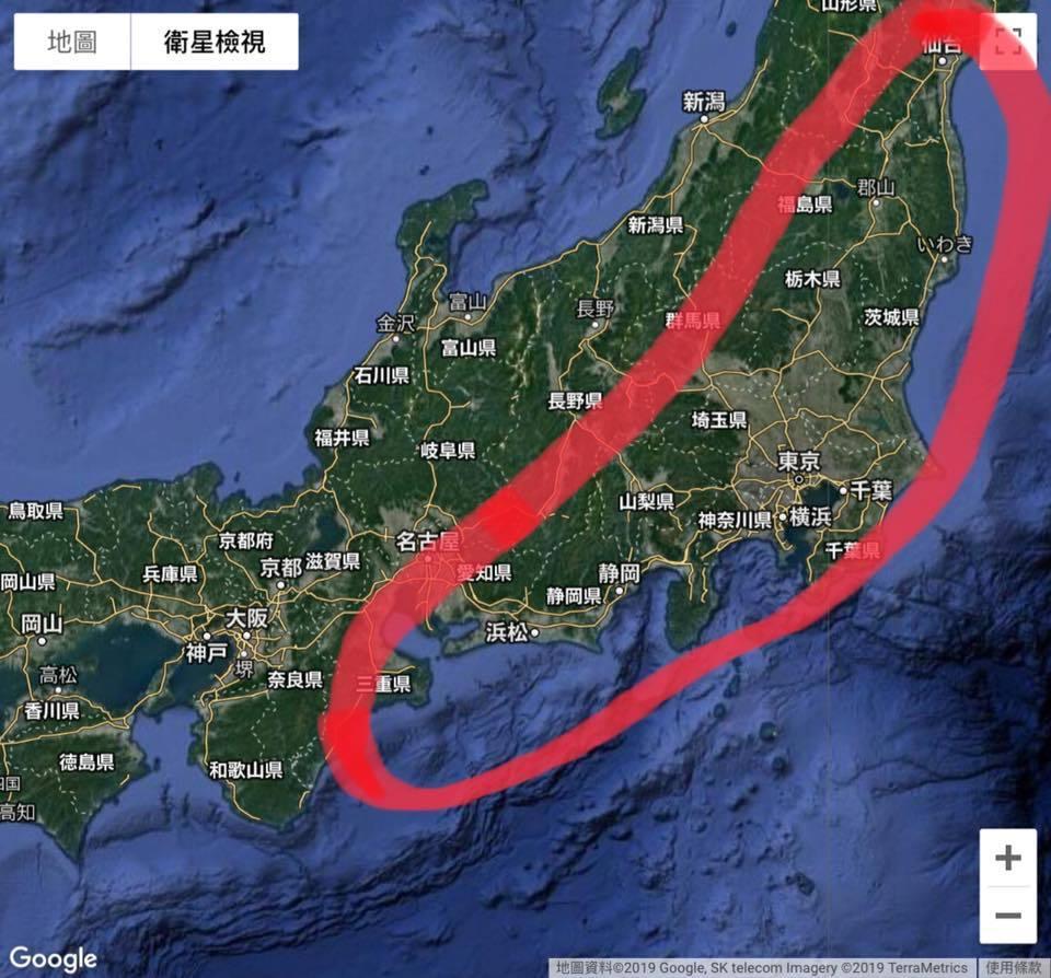 賈新興表示,各國系集預報顯示10月12日是最嚴重的時間,颱風直接侵襲,最危險的區...