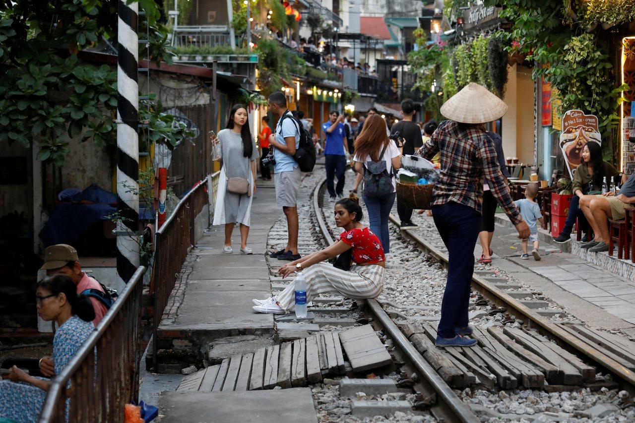 越南河內觀光景點Old Quarter老街。 路透