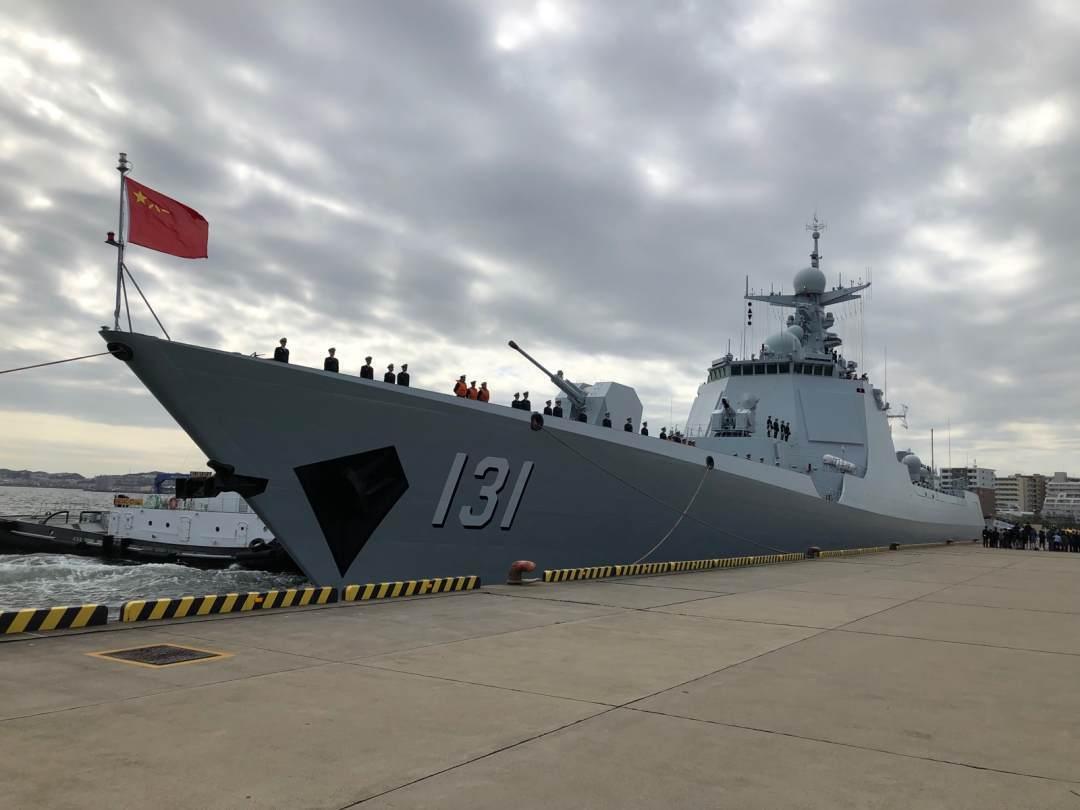 太原艦是中國大陸自行設計生產的新型導彈驅逐艦。圖/取自澎湃新聞
