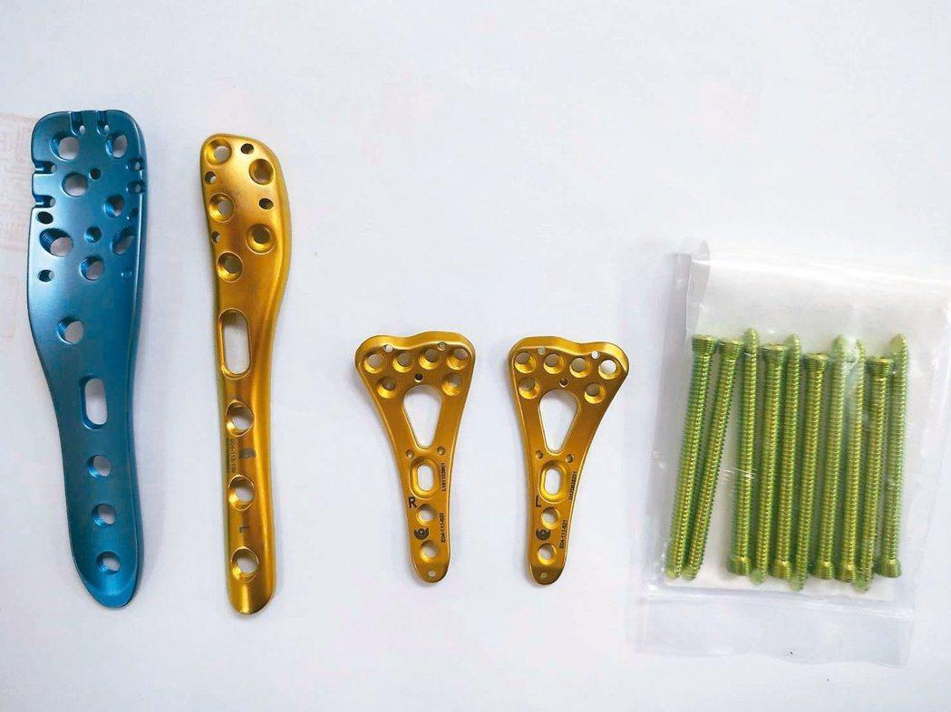 「喜維克骨釘骨板系統」違法骨釘、骨板流入市面。圖/食藥署提供