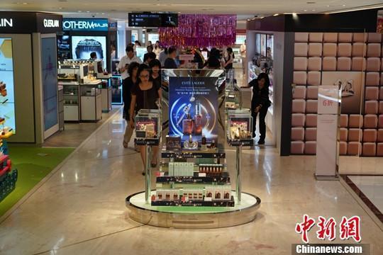 香港尖沙咀一家百貨公司店。圖/取自中新網