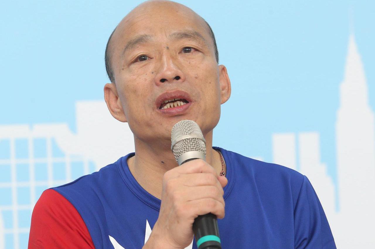 影/韓國瑜發表兩岸政策 有必要會拿槍捍衛中華民國