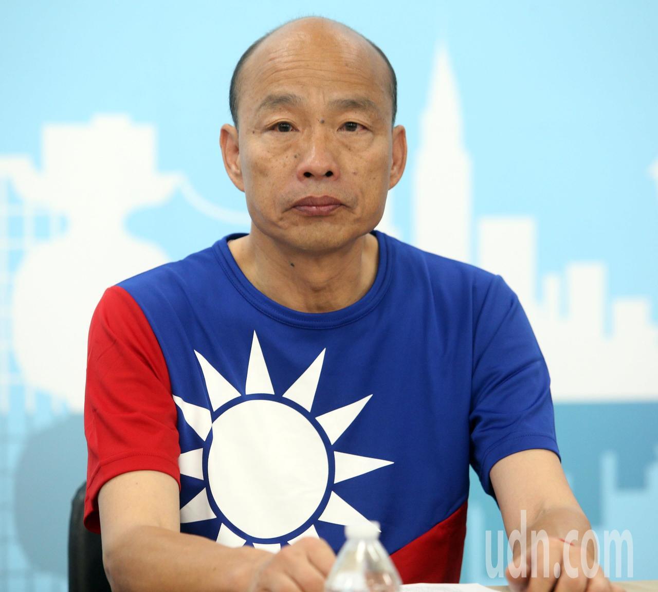 國民黨總統參選人韓國瑜強調有必要會拿槍捍衛中華民國。記者劉學聖/攝影