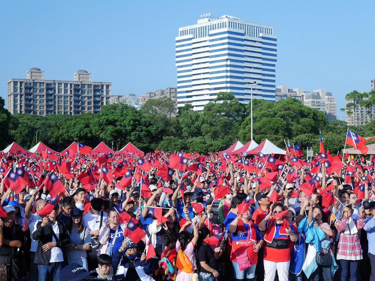 新北林口區公所自辦升旗典禮。圖/林口區公所提供