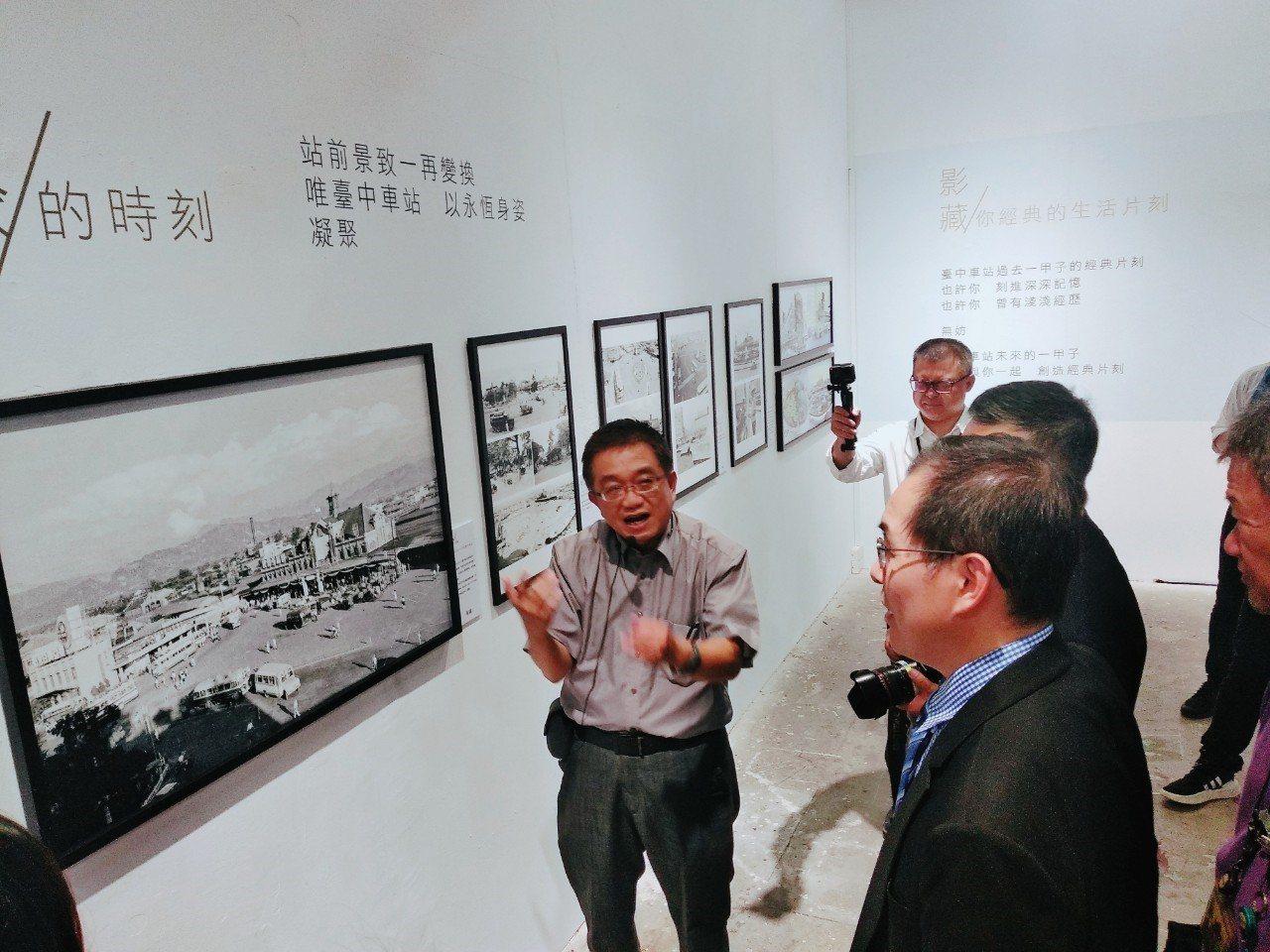台中車站20號倉庫展出攝影名家余如季的作品展,台中車站周邊不復存在的天橋、地下道...