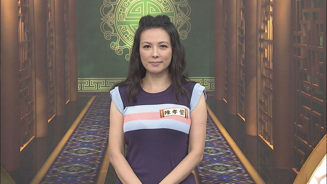 陳孝萱的合約曾爆出糾紛。圖/中天提供