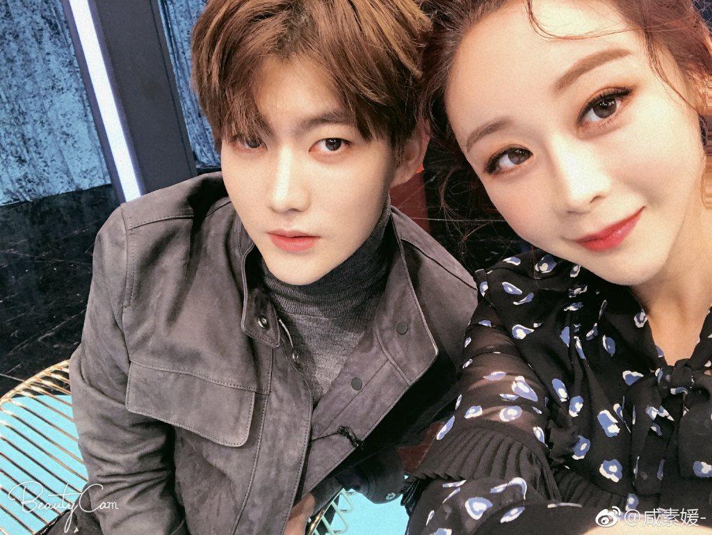 咸素媛與小18歲高富帥鮮肉老公陳華。圖/摘自微博