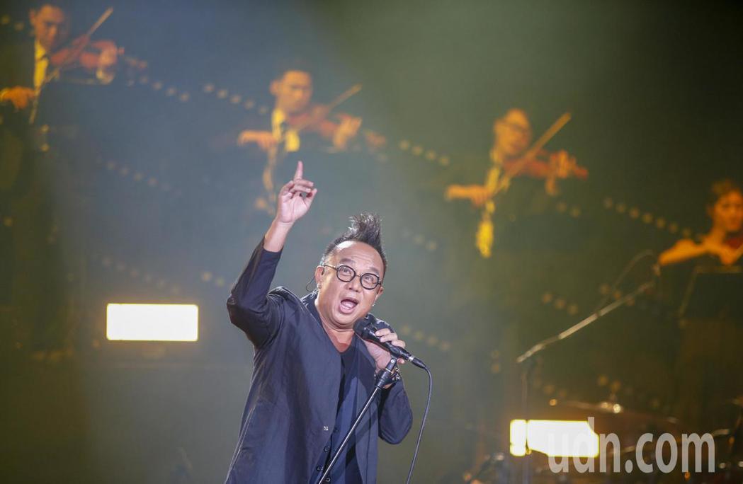 黃大煒晚上在TICC舉行演唱會。記者鄭超文/攝影