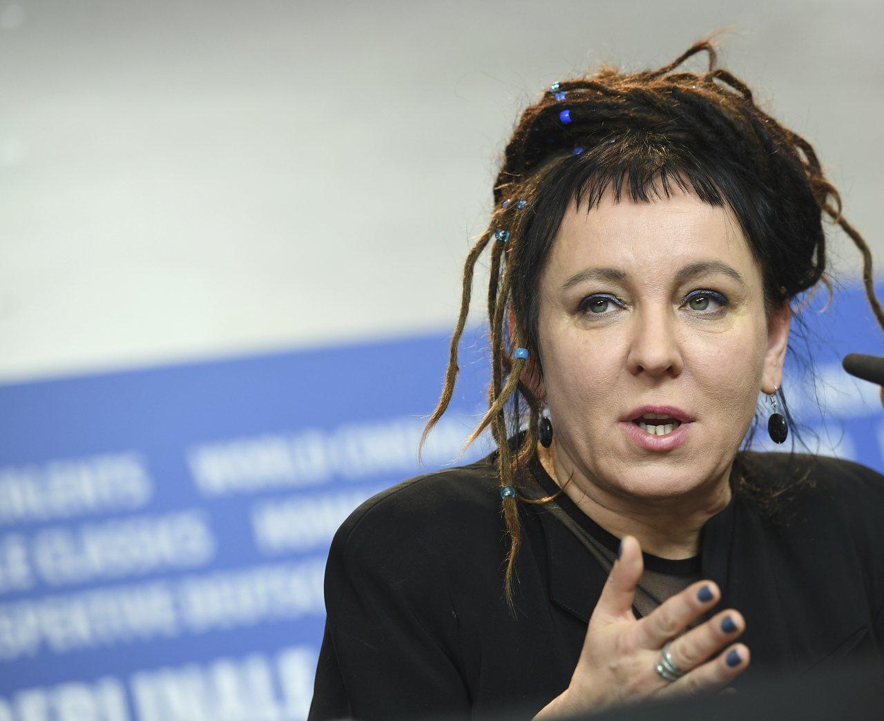 波蘭作家朵卡萩獲頒2018年諾貝爾文學獎,圖為她2017年出席記者會的資料照。(...