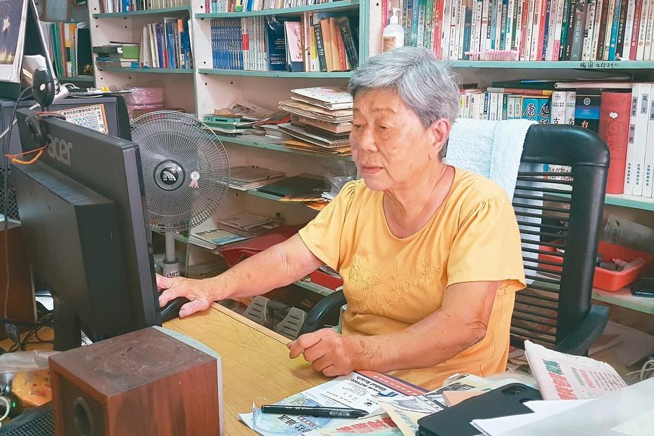 82歲嬤寫作 像打開水龍頭關不了