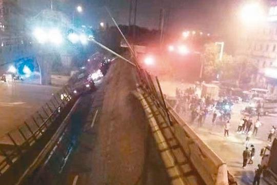 江蘇無錫高架路段坍塌 官方指向貨車嚴重超載