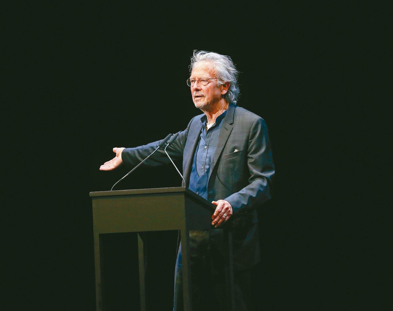 奧地利作家彼得.漢德克獲頒二○一九年諾貝爾文學獎。 (歐新社)