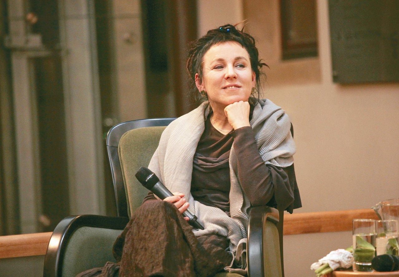 波蘭作家奧爾嘉.朵卡萩獲得延後一年發表的二○一八年諾貝爾文學獎。 (路透)