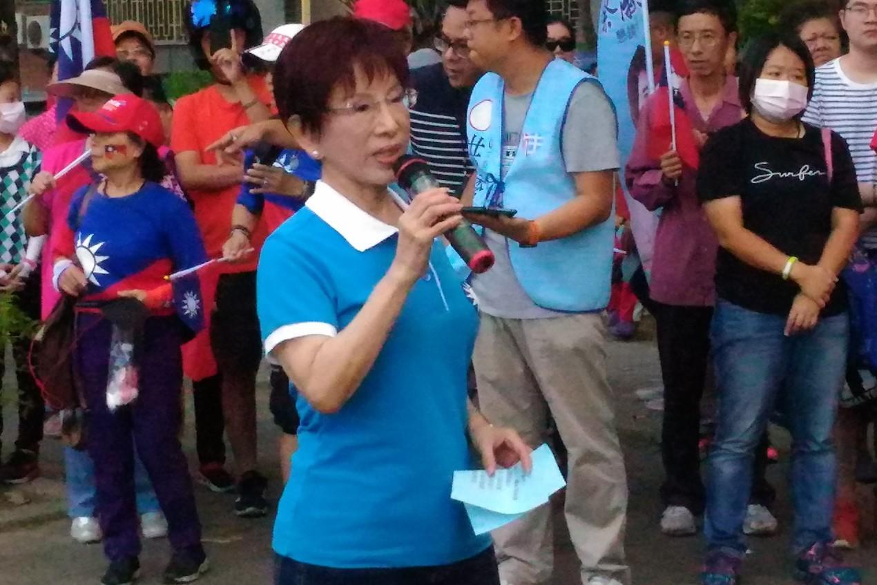 台南國慶升旗/洪秀柱:下架民進黨 票投韓國瑜