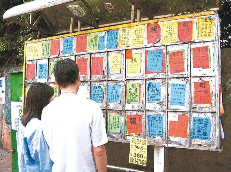 教育部自108學年起,補助大專弱勢生校外租屋每月1200至1800元。 圖/聯合報系資料照片