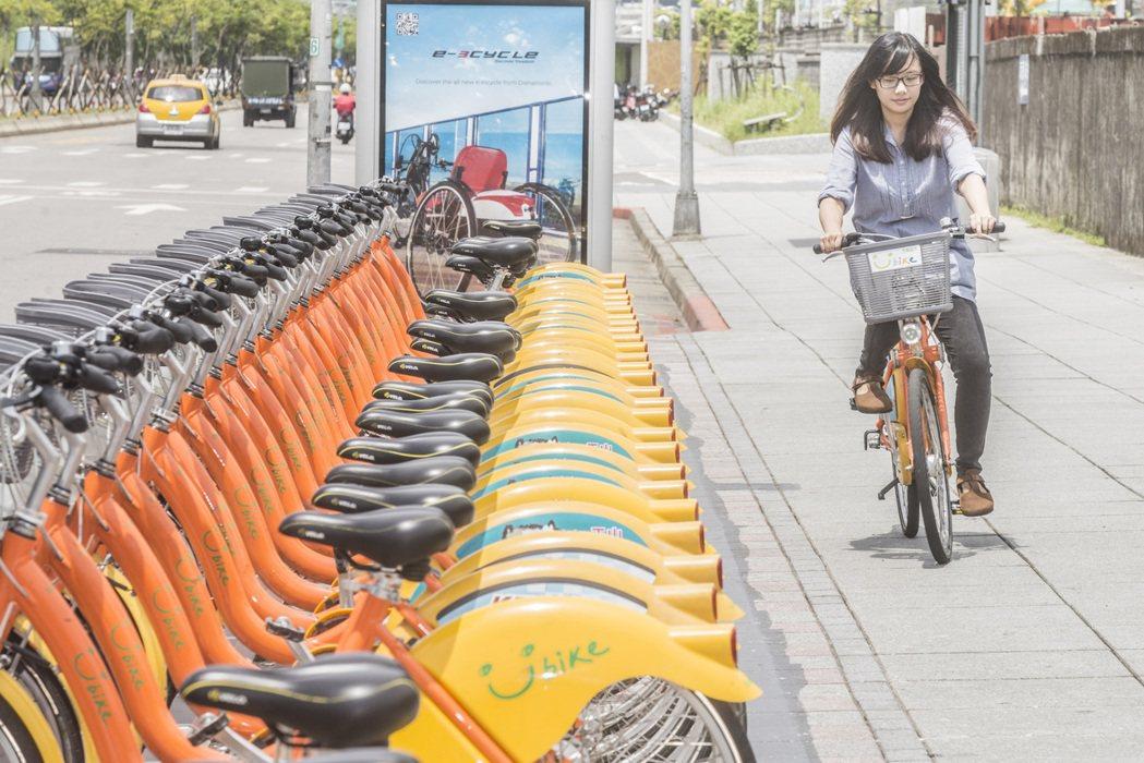 現在很多民眾騎Ubike上下班,就算自行車不是自己的,也有車險可以保。圖/聯合報...