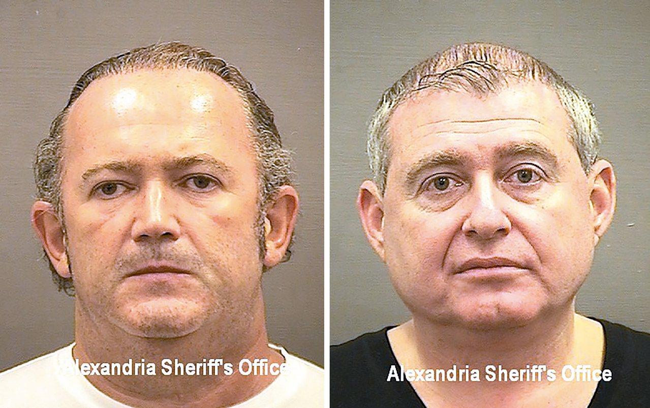 川普總統私人律師朱利安尼的兩名手下帕爾納斯(右)與佛魯曼。 歐新社