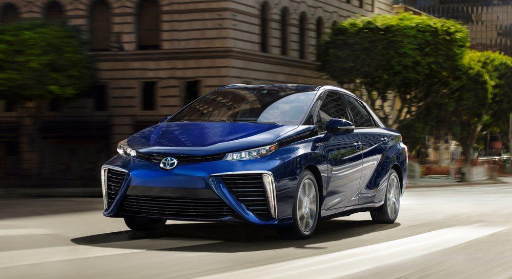 現行版Toyota Mirai。 摘自Toyota