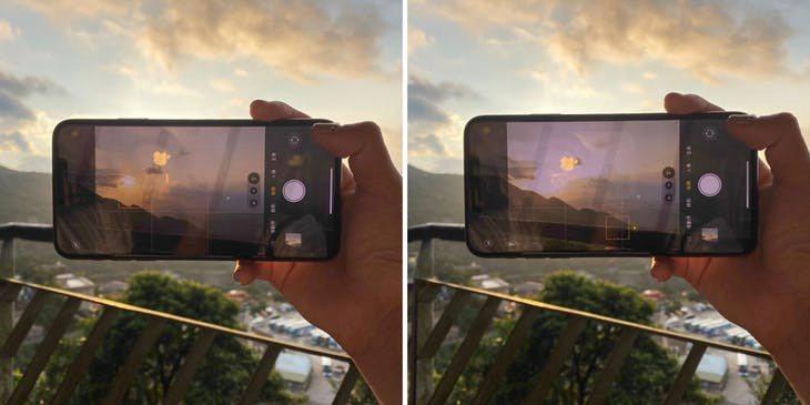 高對比風景可以盡量將對焦放在較亮的太陽上如左圖 Photo Credit:IN...