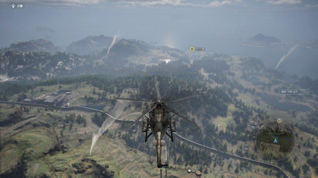 有了直升機,來往移動非常方便,圖中有冒出炊煙的地方都是可紮營的營地,可以做為未來...