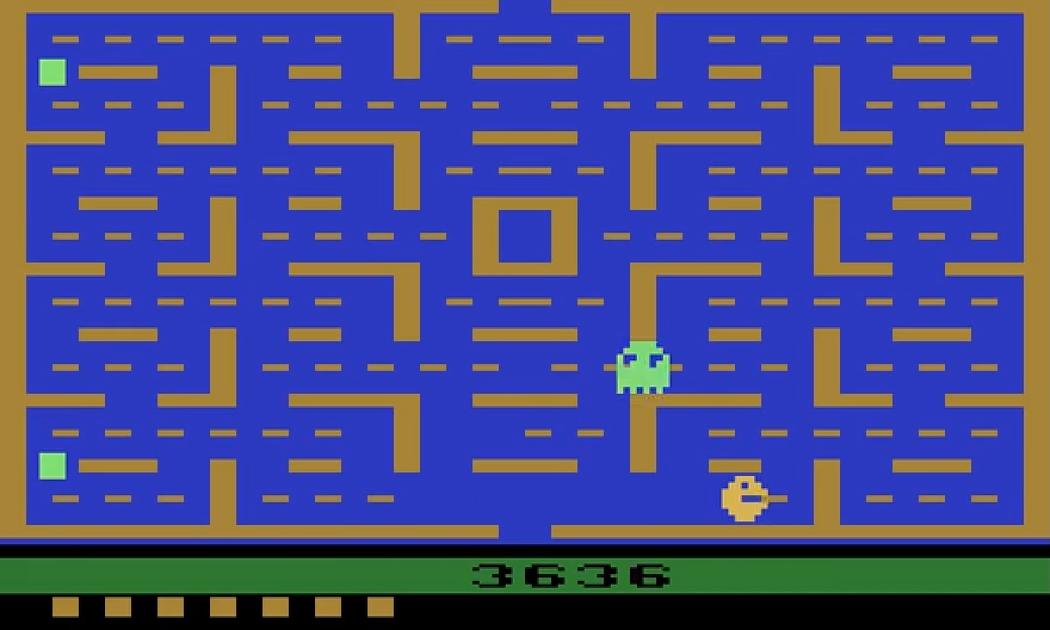 雅達利2600版《小精靈》。(圖片來源:YouTube)