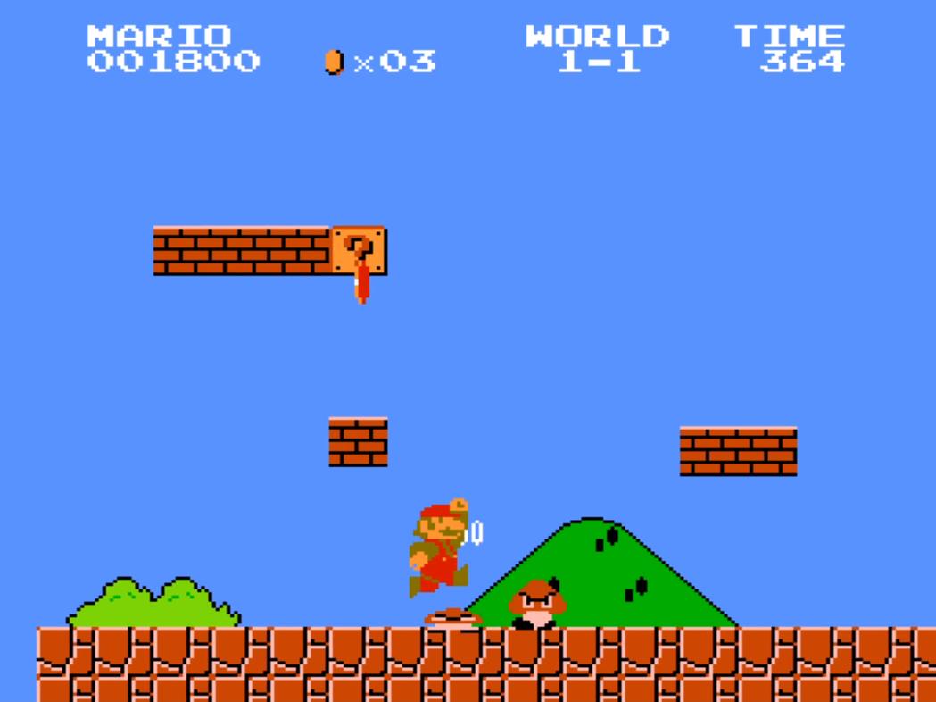 1985年《超級瑪利歐兄弟》。(圖片截自:YouTube)