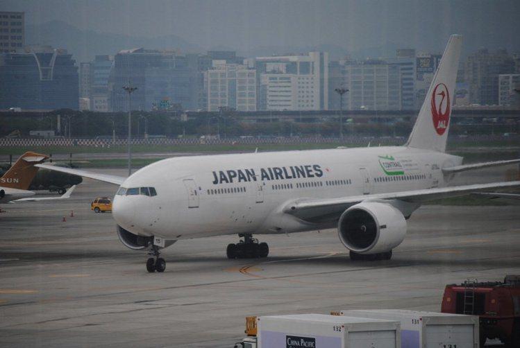 日本航空公布航班異動。 本報資料照片