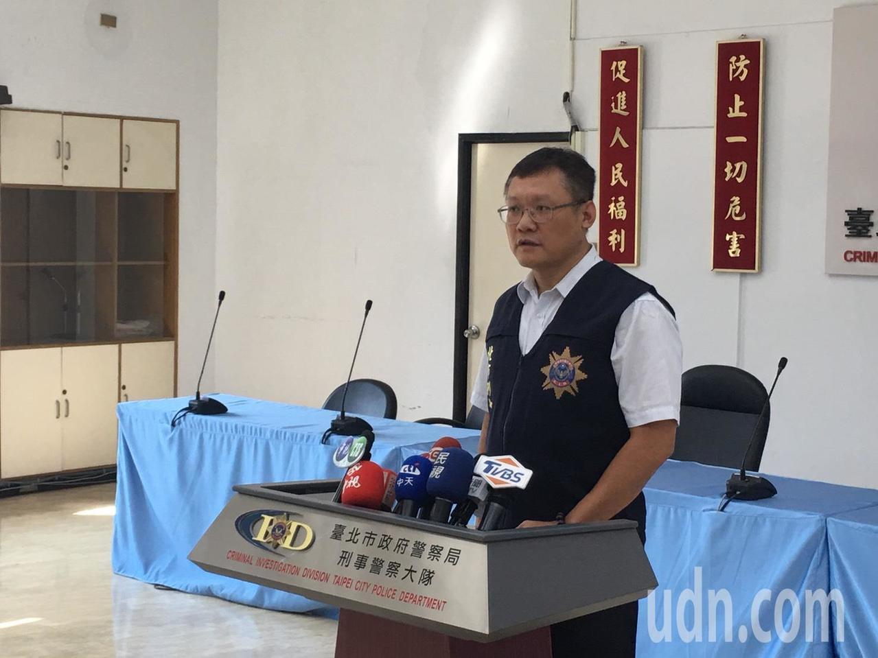 台北市刑警大隊偵五隊隊長胡玉磊。記者李隆揆/攝影