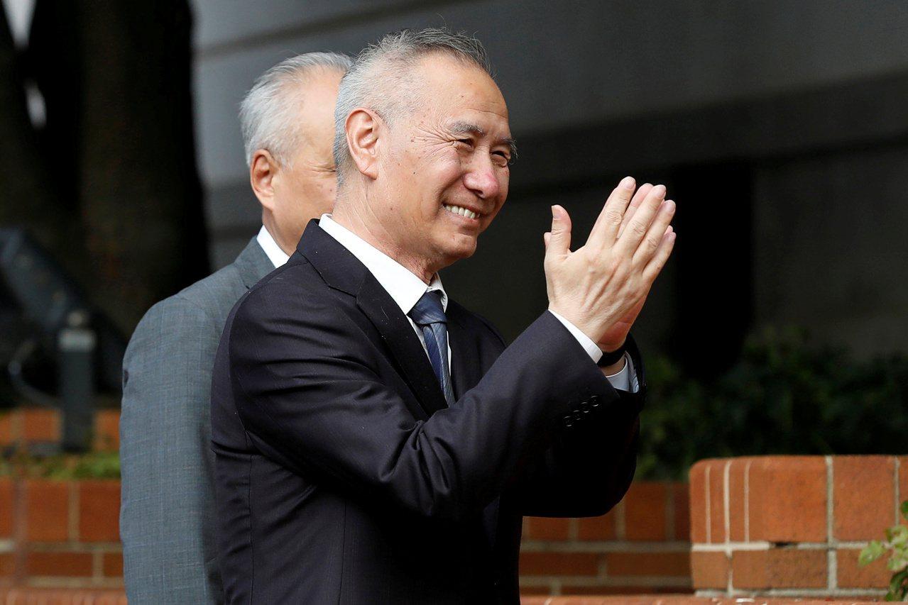 美中貿易談判展現樂觀氣氛,美國總統川普11日接見劉鶴。路透