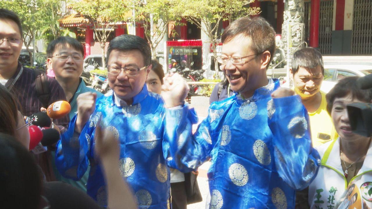 民進黨主席卓榮泰(左)批高雄市長韓國瑜兩岸主張,更嗆韓國瑜到中聯辦講一次,別只會...
