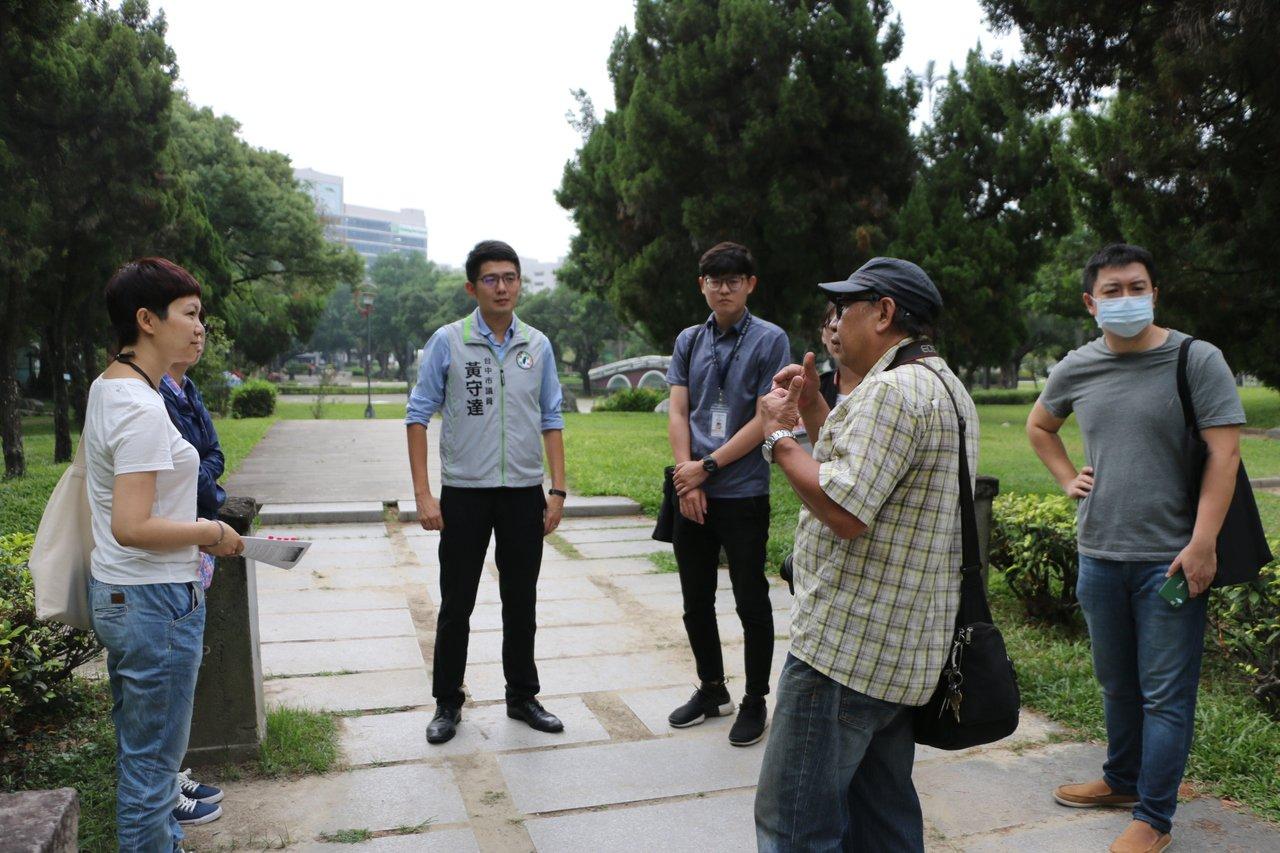 台中公園「石燈籠」解除文資追蹤 被塗水泥漆損價值