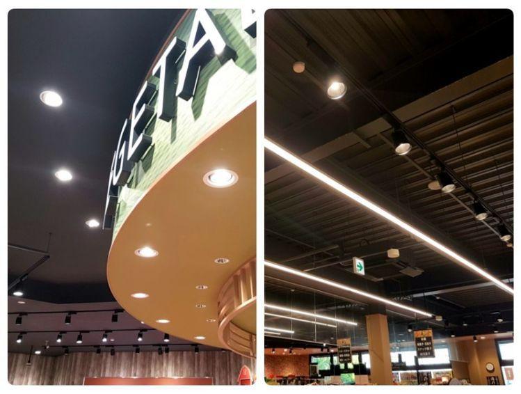 照明投射效果的細膩掌控是日本設計師西川隆的超市設計特色之一。記者何雅玲╱攝