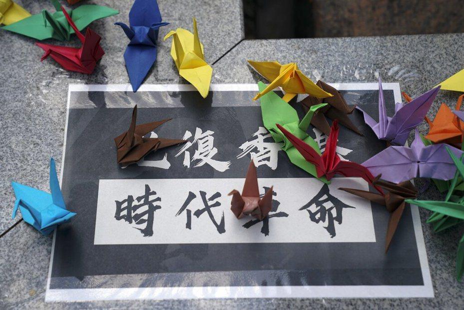 香港大學生持續反送中抗爭活動。(美聯社)
