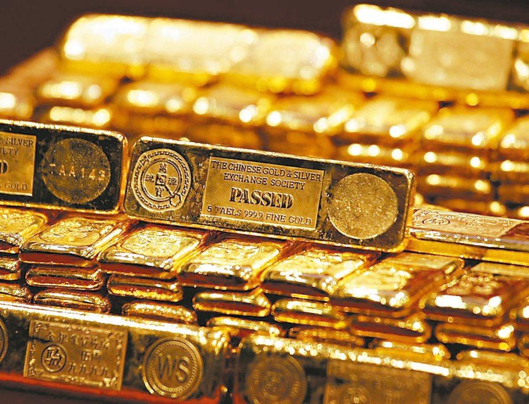 國際黃金價格,今年6月時漲至6年新高。(路透資料照片)