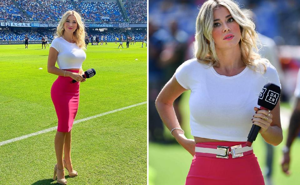 義大利記者遭球迷出言調戲,她高EQ回應網友被圈粉。圖擷自thesun