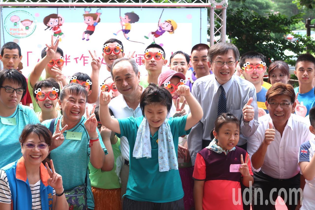 中華民國小胖威利病友關懷協會在成功特殊學校,舉辦「小胖作伙愛運動」身心障礙綜合性...