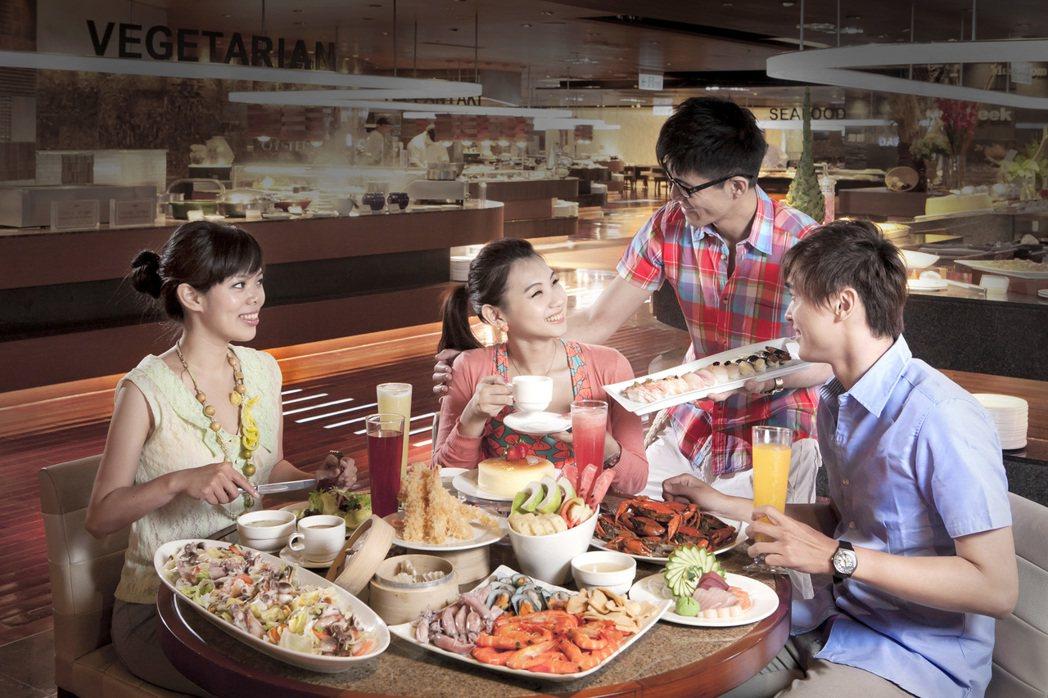 百貨業者分析,館內吃到飽的自助餐廳業績普遍都是破億,且年年成長2%~5%左右,除...