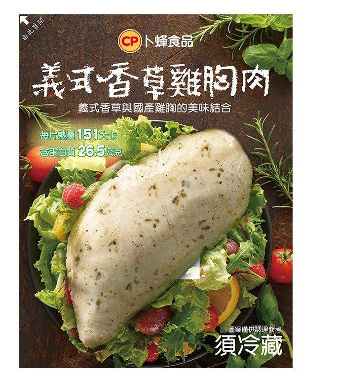 7-ELEVEN獨家推出的「義式香草雞胸肉」,售價59元。圖/7-ELEVEN提...