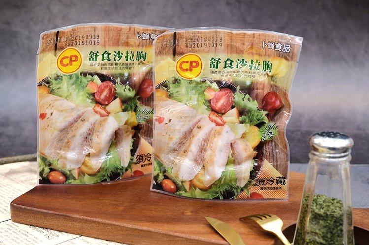 萊爾富「卜蜂舒食沙拉胸」單月狂銷超過10萬份。圖/萊爾富提供