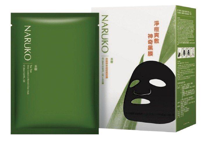 屈臣氏獨家的NARUKO茶樹神奇痘痘黑面膜8入原價299元,兩件6折、平均一件1...