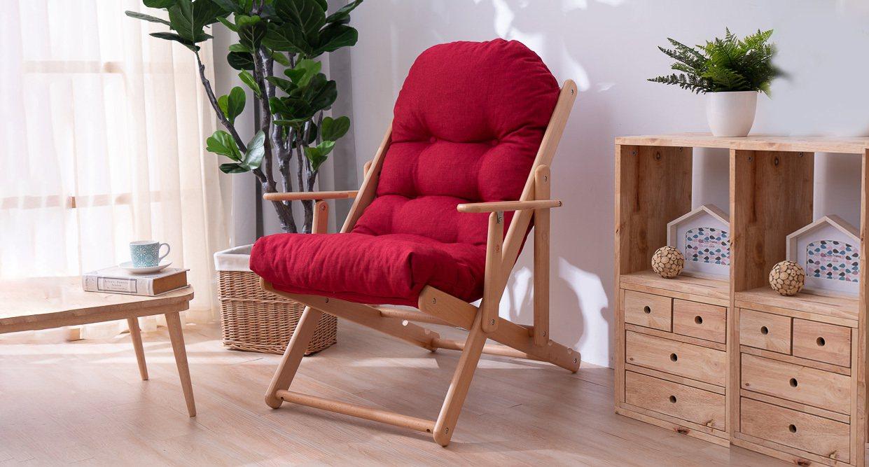 生活工場北歐簡約櫸木躺椅,原價3,280元、10月13日前限時優惠價2,270元...