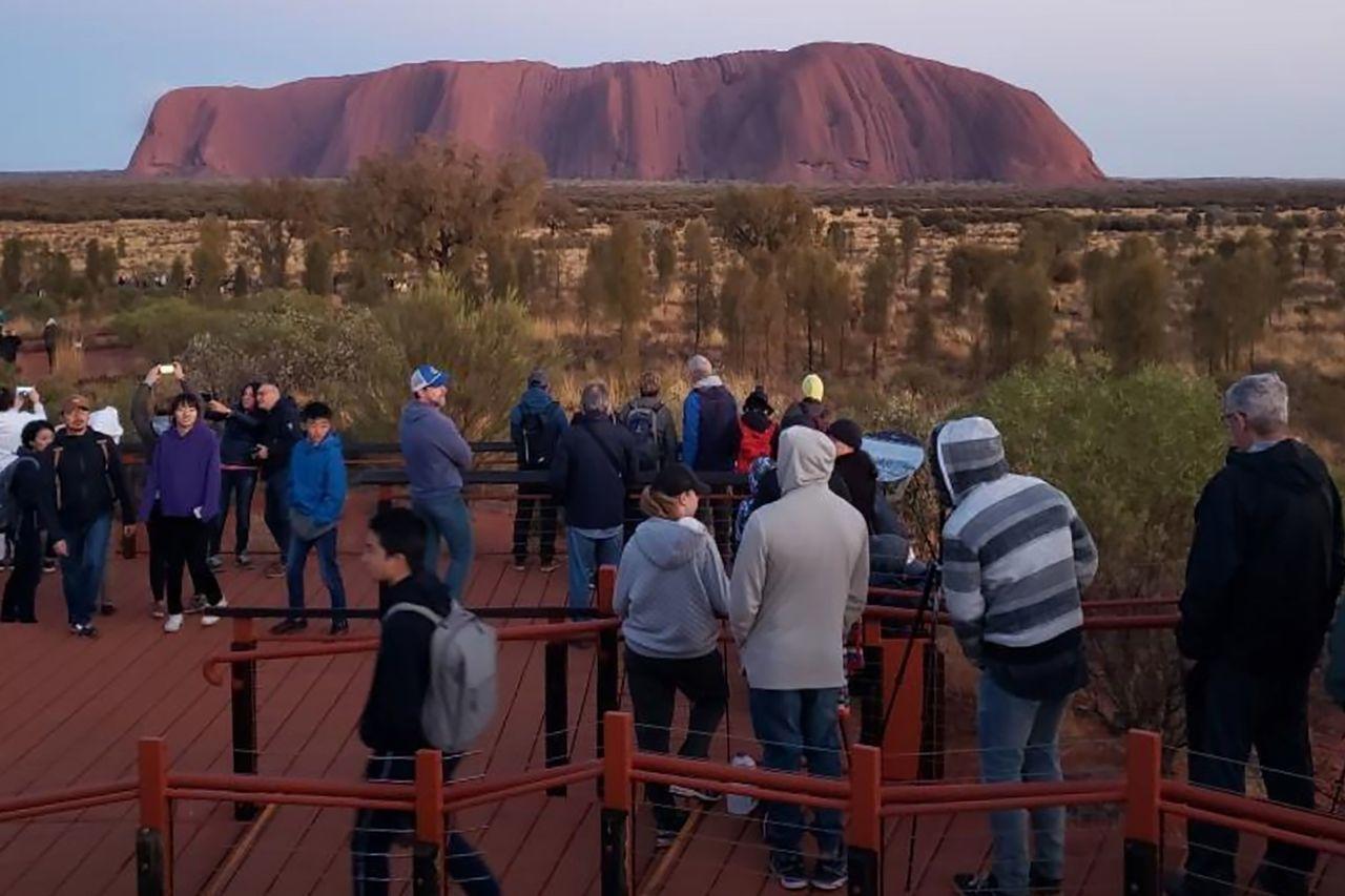澳洲知名景點「烏魯魯」被聯合國教科文組織列為世界遺產。法新社