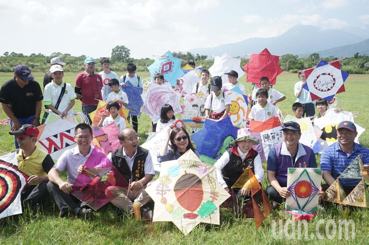 花蓮林管處今天在大農大富平地森林園區辦風箏季活動。記者王燕華/攝影