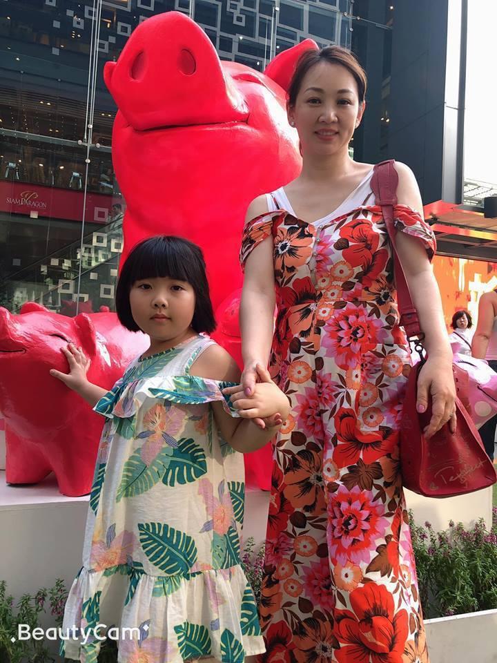 郁方和女兒Rachel感情好,但常被她童言童語嚇到。圖/郁方提供