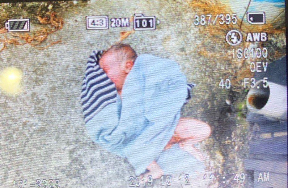 高雄大樹區發現一女嬰被棄置在荔枝園旁。記者王昭月/翻攝