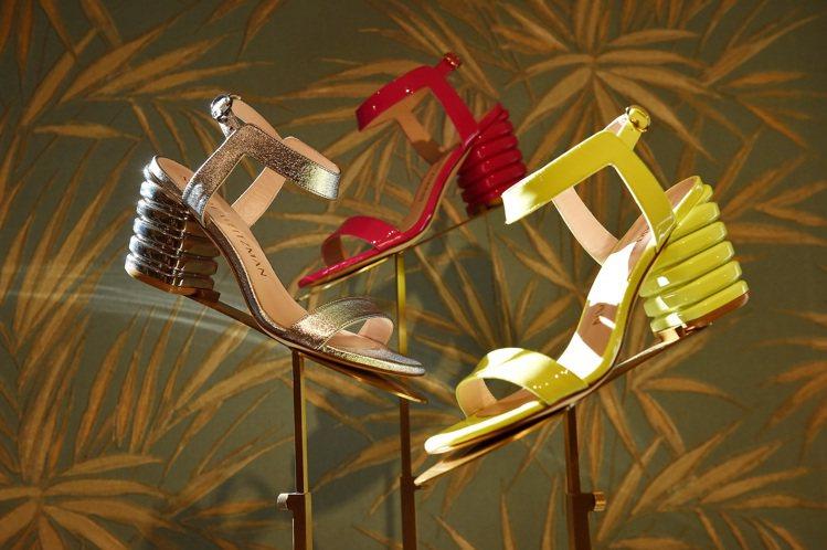 Stuart Weitzman鞋履2020春夏系列,在以加勒比海為設計靈感的白蘭...