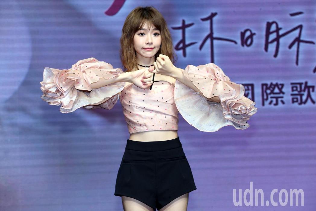 林明禎今天舉辦「愛在一起勾勾纏」,獻唱3首新歌。記者徐兆玄/攝影