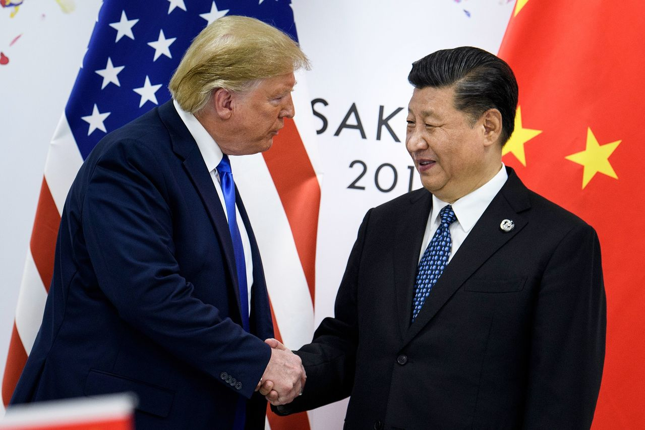 川普(左)和習近平(右)。法新社資料照片