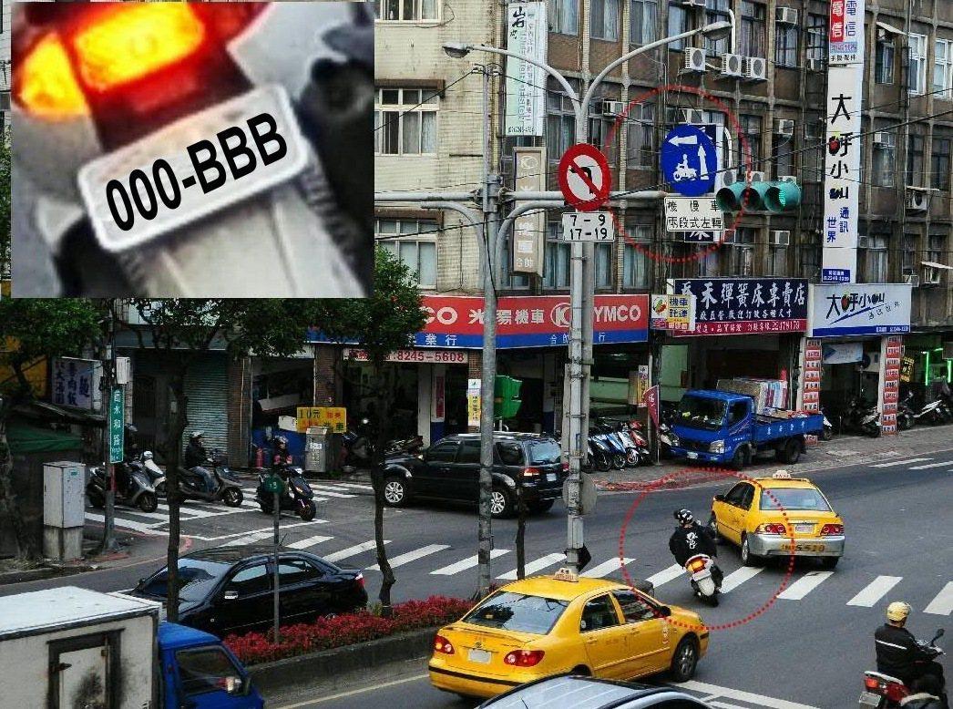 轉彎未打方向燈、或在不能左轉路段違規左轉,都可能被民眾拍下檢舉。圖/高雄市交通大...