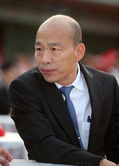 國民黨總統參選人韓國瑜請假投入選舉。記者劉學聖/攝影